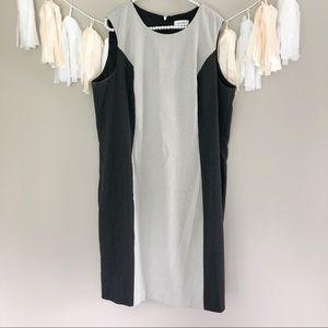 Calvin Klein Black & White Swiss Dot Shift Dress